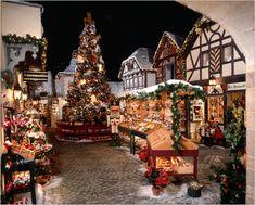 Visiting Bavarian Christmas Village at Yankee Candle, South Deerfield Mass.: http://visitingnewengland.com/blog-cheap-travel/?p=4997 #BavarianVillageYankeeCandle #ChristmasDisplays
