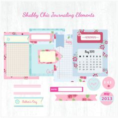 Free Printable Download - Shabby Chic Journaling Elements