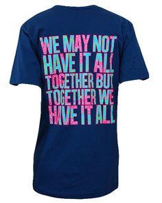 Alpha Phi Together V-Neck by Adam Block Design   Custom Greek Apparel & Sorority Clothes   www.adamblockdesign.com