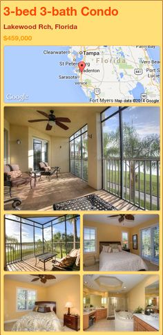 3-bed 3-bath Condo in Lakewood Rch, Florida ►$459,000 #PropertyForSale #RealEstate #Florida http://florida-magic.com/properties/72203-condo-for-sale-in-lakewood-rch-florida-with-3-bedroom-3-bathroom