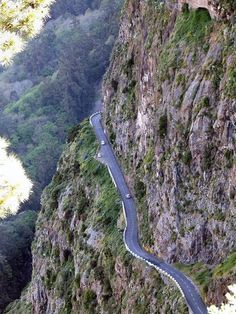 Madeira - Curral Das Freiras - Mountainside Road by Mike Gaylard, via Flickr