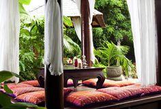 Balinese style #backyard #sitting