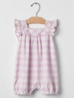Gingham flutter shortie one-piece Product Image