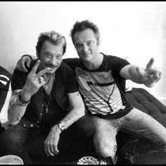 Johnny Hallyday et David Hallyday Fête des Pères 2012