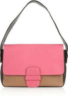 Marc Jacobs Violet color-blocked leather shoulder bag on shopstyle.co.uk