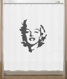 Style up your bathroom with cool Marilyn Monroe Shower Curtain