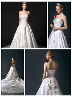 Strapless Sweetheart Beaded Bodice A-line Wedding Dress