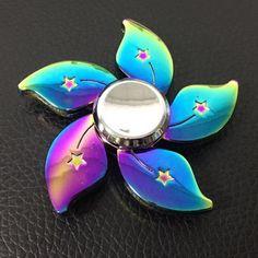 Amazon.com: Spinner Boy Rainbow Flower Fidget Spinner Metal Tri-Spinner EDC Hand Finger Spinner for Autism ADHD Focus Relief Stress Toys Kid Adult Gift: Toys & Games