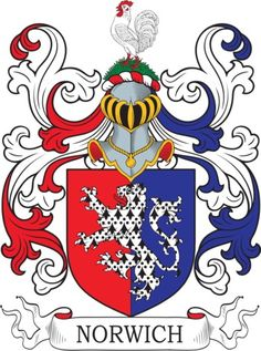 Norwich Family Crest and Coat of Arms