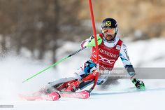 Marcel Hirscher of Austria competes during the Audi FIS Alpine Ski World Cup Men's Slalom on December 11, 2016 in Val-d'Isere, France