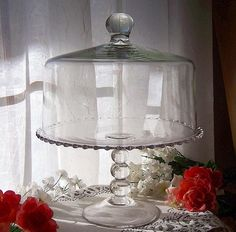 Imperial Candlewick Cake stand with Dome Lid