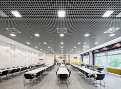 Metal suspended ceiling tile - CELLIO - Armstrong ceilings - Europe