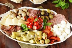 Assemble a party-perfect antipasto platter with just a few simple steps.