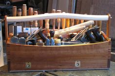 A wooden tool box plans is a bar tool used for mash or messy fruit, vegetables, herbs or spices while making mixed drinks. Wood Tools, Bar Tools, Tool Tote, Wooden Tool Boxes, Wooden Boats, Boat Building, Made Of Wood, Restaurant Bar, Modern Design