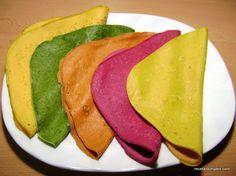 Panqueques: zanahoria, espinaca, morrones, remolacha, azafran – Recetas simples y deliciosas