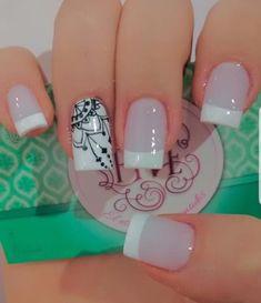 Nails To Go, Fancy Nails, Us Nails, Trendy Nails, Wedding Acrylic Nails, Simple Acrylic Nails, Nail Art Designs Videos, Nail Designs, Nail Swag