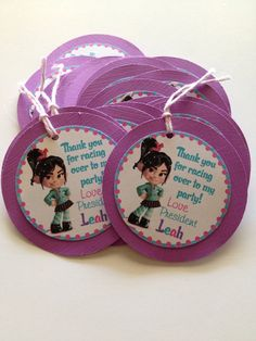 Wreck it Ralph Vanellope Custom Birthday by DivineDecorations, $8.00
