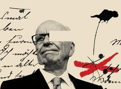 Illustration for Washington Post's article Rupert Murdoch called 'unfit' to lead in U. Parliament's report on phone-hacking scandal - Cristiana Couceiro. Photo Illustration, Graphic Design Illustration, Graphic Art, Illustration Styles, Collage Design, Collage Art, Print Design, Vintage Graphic Design, Graphic Design Inspiration