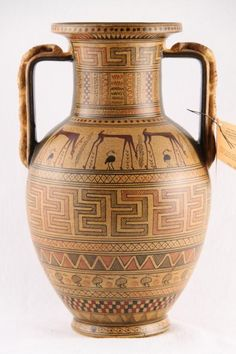 Ancient Greek Geometric Vase Amphora