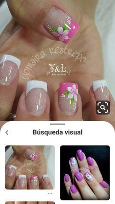 French Manicure Designs, Nail Art Designs, Summer Toe Nails, Nail Spa, Cute Nails, Polish, Tattoos, Creative, Weddings