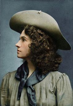 American sharpshooter, Annie Oakley. (Colorized Photo) 1900.
