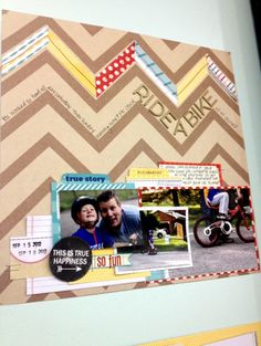 I love the addition of paper scraps and journaling in the lines plus I can any number of photos.