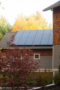 Roof solar panels providing, green, alternative energy. Louden Ridge, Saratoga Springs, NY.