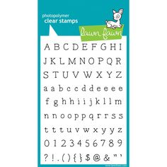 Add sentiments or captions to projects with the Harold's ABCs Clear Acrylic Stamp Set by Lawn Fawn. There are 103 stamps made of the highest quality