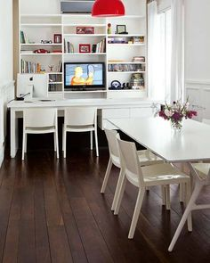 Dining room and home office idea #interior