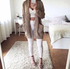 aesthetic, cute, fall, fashion, knee highs - image #4088509 by ...