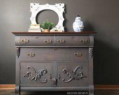 Vintage Furniture Victorian Buffet in Light Brown Paint Furniture, Furniture Projects, Furniture Makeover, Antique Furniture, Cool Furniture, Living Room Furniture, Furniture Online, Hutch Furniture, Furniture Design