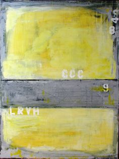 Yellow Abstract Painting large abstract painting acrylic abstract painting Titled - Downtown 30 x 40 x .75 by Cheryl Wasilow on Etsy, $599.00