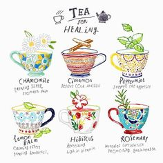 Powerful tea that helps in losing weight, fast. Safe to drink. Some are covered:- herbal tea, herb tea, Tea health benefits Hibiscus tea, Tea recipes. Afternoon Tea, Tee Kunst, Tips & Tricks, Tea Art, My Cup Of Tea, Book Of Shadows, Food Illustrations, Tea Recipes, Herbal Remedies