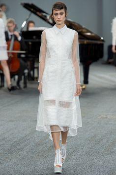 Erdem | Look 14 | $2,735 http://www.mytheresa.com/en-us/faldo-organza-panelled-tweed-dress.html