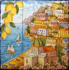 9 tile ceramic of Positano....they have smaller & larger & also tiles of Amalfi :)