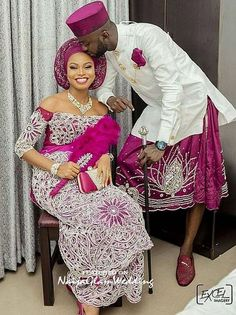 nigerian dress styles For an Igbo man looking for how to dress culturally for your traditional wedding, here are 6 fab photos of Igbo grooms in george wrappers and shirts attire African Bridal Dress, African Wedding Attire, African Lace Dresses, Latest African Fashion Dresses, African Attire, Nigerian Wedding Dresses Traditional, Traditional Wedding Attire, Traditional Outfits, Traditional Weddings