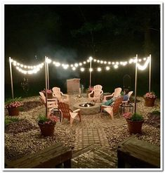 Awesome DIY Fire Pit Plans Ideas With Lighting in Frontyard Awesome DIY Fire Pit Plans Ideas With Lighting in Frontyard,Zen Backyard/Patio vibes! Awesome DIY Fire Pit Plans Ideas With Lighting in. Fire Pit Party, Diy Fire Pit, Fire Pit Backyard, Backyard Patio, Backyard Landscaping, Fire Pit Decor, Lights In Backyard, Back Yard Fire Pit, Landscaping Borders