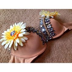 Rave bra / flower bra