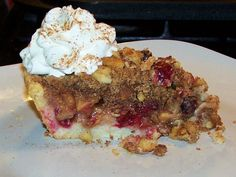 Cranberry Apple Crumb Pie - Gluten Free Recipe #TDayRoundUp Entry by @EZ Gluten Free