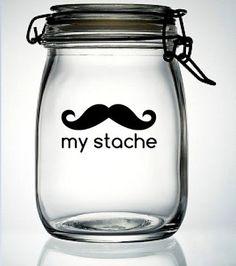 Cute mustache vinyl idea ...