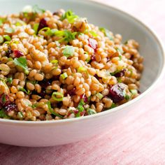Get Wheat Berry Salad Recipe from Food Network Wheat Berry Recipes, Wheat Berry Salad, Grain Salad, Healthy Side Dishes, Side Dish Recipes, Healthy Grains, Healthy Eating, Healthy Salad Recipes, Vegetarian Recipes
