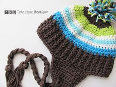 need to find someone who can crochet hats like this for the little man in my life