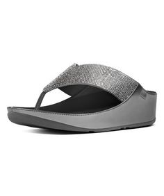 6eb815db4a9a Look what I found on  zulily! Pewter Crystall Leather Sandal - Women   zulilyfinds