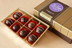 Truffle Box: Our finest ganache-filled Truffles. Chocolate Gift Boxes, Chocolate Truffles, Truffle Boxes, Nespresso, Packaging, Chocolates, Gourmet, Everything, Truffle