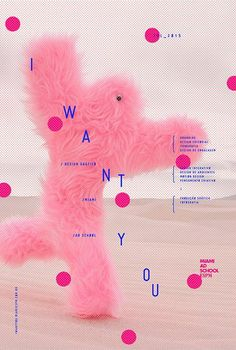 "Poster for the exhibition of the ""Miami Ad School"" - Rodrigo Castellari - Crazy photo in the background with . Graphisches Design, Buch Design, Cover Design, Layout Design, Print Design, Foto Poster, Poster Art, Poster Layout, Typography Poster"
