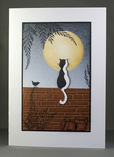 Lynne's Crafty Little Blog: Moonlit Cat Card