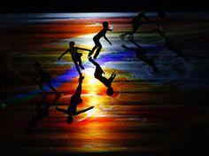 Jugendliche in Japan treten bei Eiskunstlauf-Wettbewerb auf