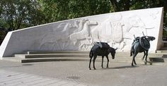 'They had no choice' - Animals in War Memorial, Hyde Park, London.