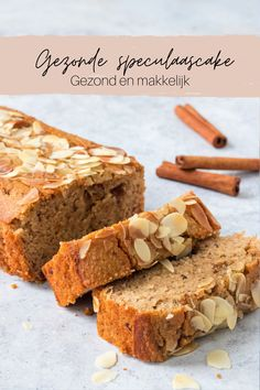 Dutch Recipes, Sweet Recipes, Cake Recipes, Snack Recipes, Healthy Cake, Healthy Baking, Köstliche Desserts, Delicious Desserts, Good Food