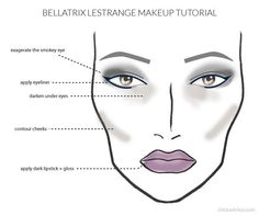 Bellatrix Lestrange makeup for Halloween!